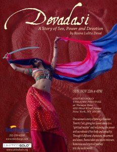 Devadasi NYC United Solo Flier